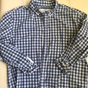 Blue and White Checked Button Down